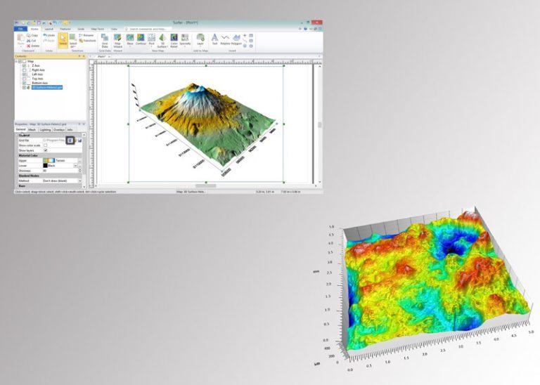 Logiciel d'analyse des états de surface 2D et topographie 3D